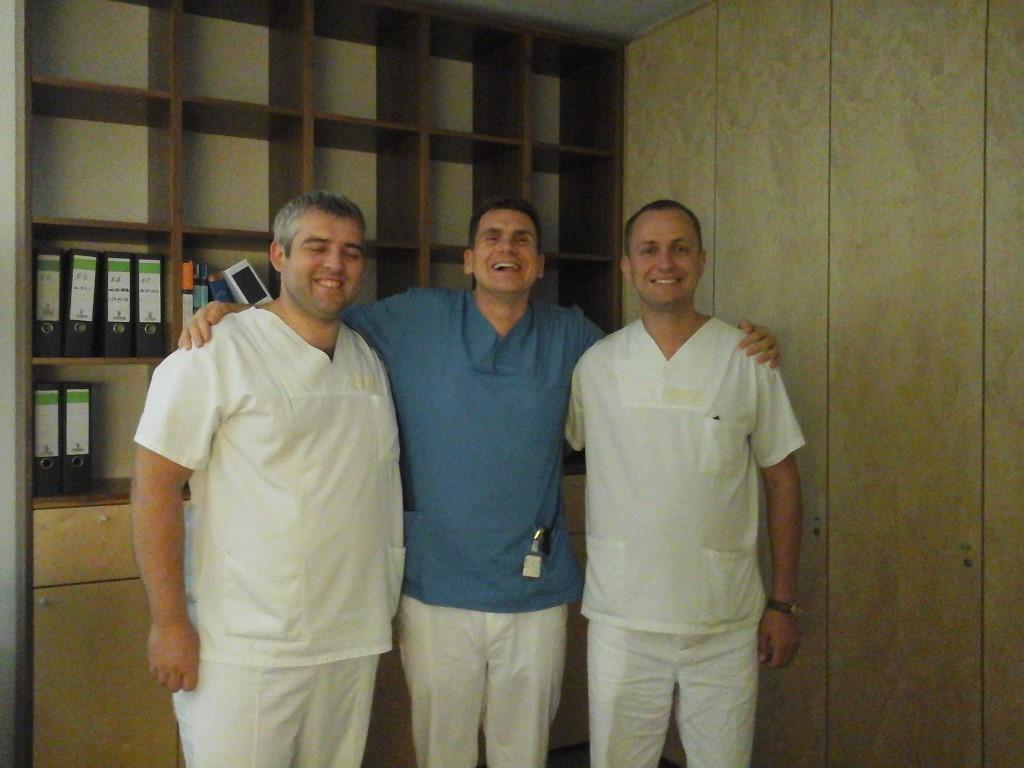 Курпик А.В (слева), Тим Затлер (по центру) и Гаврилик А.А (справа)
