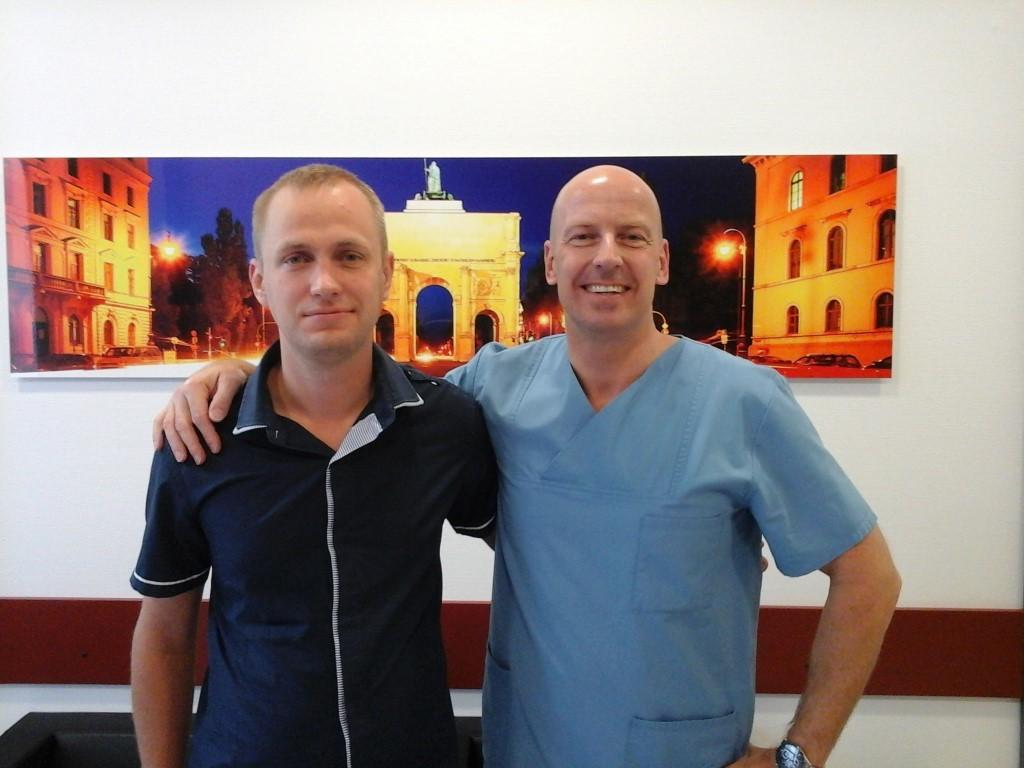 Заведующий отделением Тобиас Якобс (справа) и Александр Гаврилик (слева)